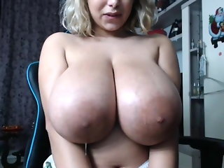 Huge Areola Massive Boobs Tits Spit Webcam BBW
