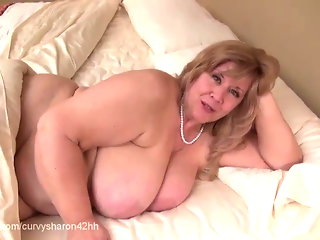 Curvy Sharon - Mommie Gives You Your First Blow Job