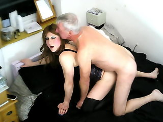 T-Girl Marina Stevens Fucked On Webcam