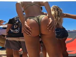 spreading beach booty