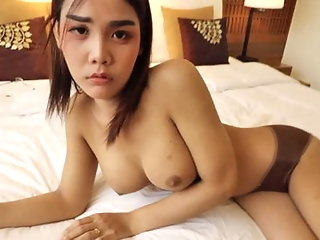 HELLOLADYBOY Thai Asian Ladyboy Begs For Messy Cum