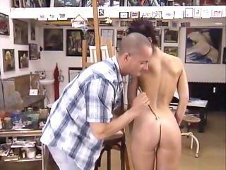 Leonie Saint in the Art School