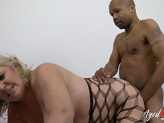 AgedLove Alisha Rydes with big boobs and Diamond Lou with bi