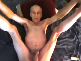 Old grandpa gets fucked legs up