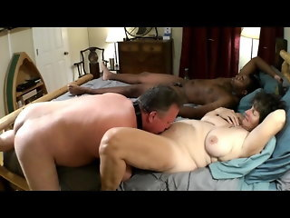 Mistress Joyce with young BBC Cuckold cleans