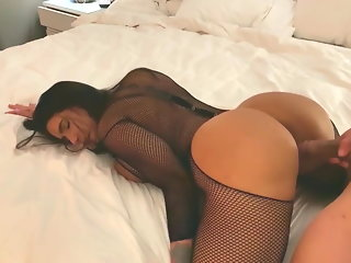 Big tits latina bounces her big ass on big cock