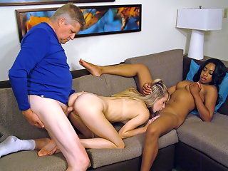 Lala Ivey and Lola Hunter - Babysitter Fun 3some