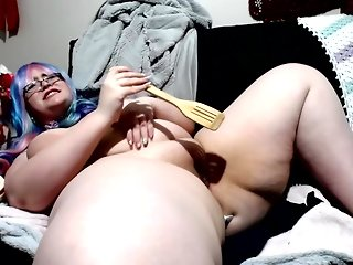 Jizzabelle Earns An Orgasm From Stuffing Her Ass