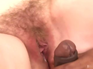 Black dudes are the usual visitors to her fresh hairy pussy, but she