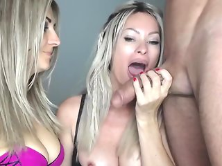 Blonde Gives Hot Smoking Handjob Blowjob