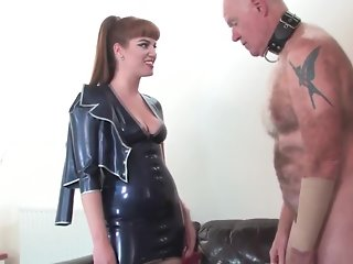 Punishing her disobedient slave