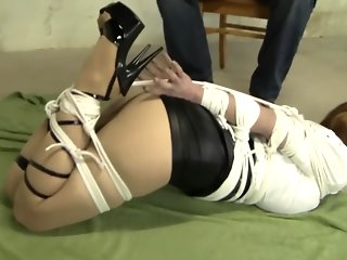 Astonishing porn video Hogtied watch just for you