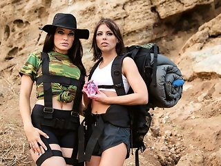 Adriana Chechik & Kissa Sins in Sapphic Curse Of The Crystal Skull, Scene #01 - GirlsWay