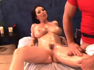 Rayveness shows off her hairy muff and takes a cock deep in the jungle