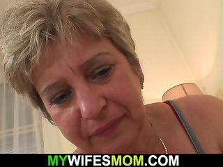 Horny mother in law wakes him up for cheating sex