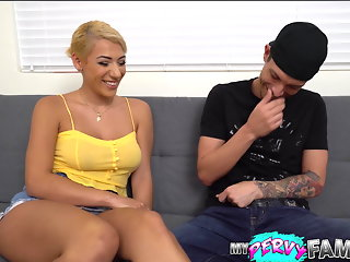 Thick Latina Sis Craves Her Step-Brother's Dick
