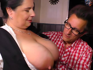 German style - Big moms fucks lucky client