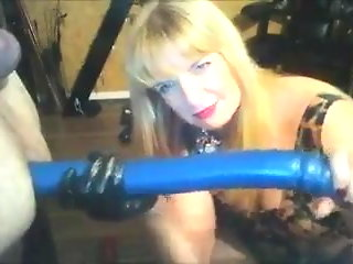 Mistress Fucking Him With Huge Toys