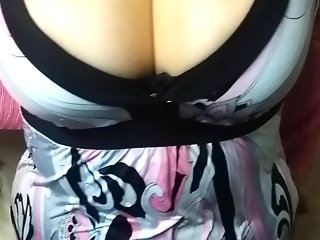 I lost a bet and had to show my tits to my friends.