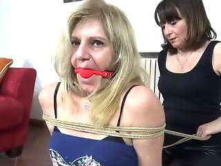 Mature Blonde Bondage