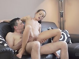 OLD4K. Daddy fills tender young mouth of Tina Walker with thick sperm