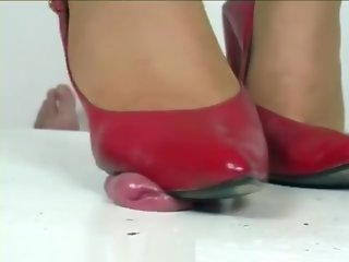 Jenny red shoes cock crush