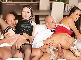 Wendy Moon & Mea Melone & Neeo & Adam Black & Leny Ewil in Caught In The Act & Scene #01 - AdultTime