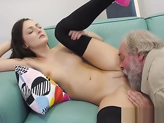 Katy rose fucked by old man
